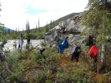 Drying my clothes out with Mother Nature's amenities.